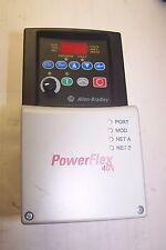 ALLEN BRADLEY 2 HP POWERFLEX 40 AC VFD DRIVE 22B-D4P0N104  480 VAC