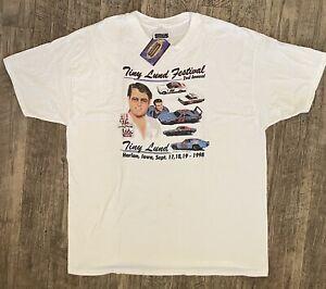 NASCAR Vintage 1998 TINY LUND Festival T-Shirt NEW XXL FREE SHIPPING