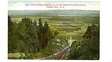 Haines Falls NY-VIEW DOWN OTIS INCLINE RAILROAD-Postcard Catskill Mountain House