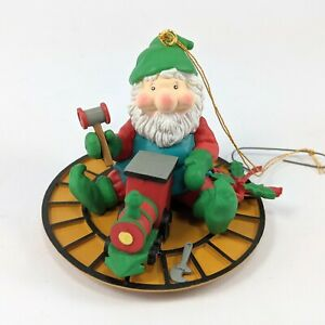 Toy Workshop Elf Christmas Ornament Miniature Santas Pride 1991
