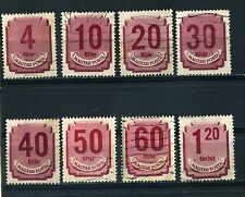 HUNGARY eight 1946 to 1951 POSTAGE DUE used