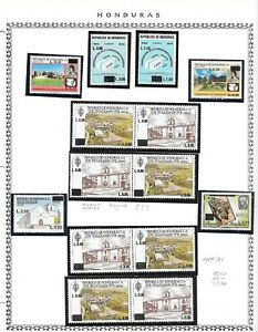 HONDURAS. 1986. AIR. SURCHARGES SET NEVER HINGED MINT WITH ADDITIONAL PAIRS.