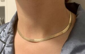 Solid gold Greek Key necklace