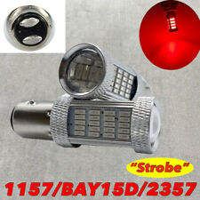 Strobe Brake Light 1157 2057 2397 3496 7528 92 BAY15D Red LED Bulb W1 GM JA