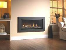 GAS FIRE INSET VOLA LANDSCAPE INSET WALL BLACK GLASS FRONTED HIGH EFFICIENCY