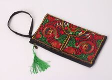 Ladies Floral Embroidered Lined Zip Up Clutch Bag UK SALE FREE POST