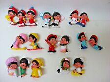 COMPLETE set 18 Monchhichi  PVC mini figurines pint-sized mascots Mattel 1981
