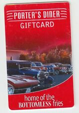 PORTER'S DINER Fredericton, NB Canada gift card no value collectors only