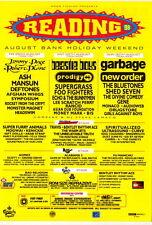 READING Festival 1998 original UK 15x20 cm flyer NEW ORDER (JOY DIVISION) ASH