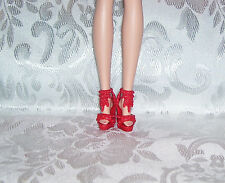 NEW FITS BARBIE DOLL AND SILKSTONE DARK RED CLEOPATRA STYLE SHOES