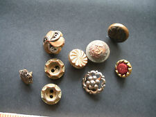 Victorian Buttons Lot of 9 (Filigree, Nautical & More)
