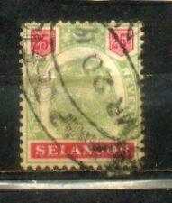 """FMS Malaya Malaysia Selangor 1895-99  Old """"Tiger"""" Stamps  25c CV Rm 200"""