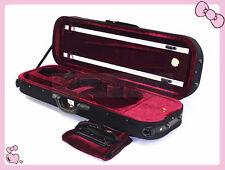 4/4 Size Beautiful Enhanced Foamed/Oblong Shape Violin Case + Free one Rosin