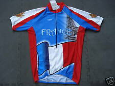 New FRANCE Team Cycling Flag Jersey Eiffel Tower size S
