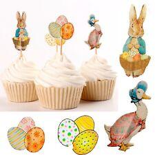 Easter cake topper 4 set Bunny Duck Easter egg pin pins cupcake picks cake Deco