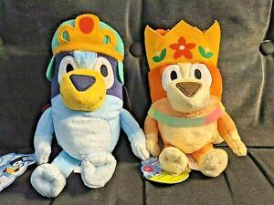 """BLUEY Princess Bluey & Bingo 8"""" Stuffed Toy Doll **SHIPS TODAY**"""