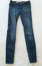 Hollister Womens Juniors Stretch Denim Dark Wash Slim Skinny Jegging Jeans 00R