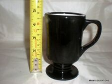 Lot of 36 caballero pedestal Coffee mug 8oz Black Continental Carlisle 8008 Vtg