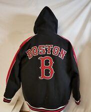 BOSTON  Hoodie  Mens Large  Black & Red Very Warm