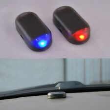1X Fake Solar Car Alarm Led Light Security System Warning Theft Flash Red Blue