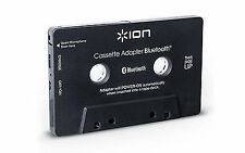 Ion Audio Cassette Adapter Receiver for Cassette Deck with Bluetooth, Black