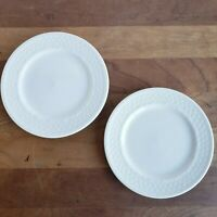 Oneida Wicker White Basketweave bread and butter plates lot of 2