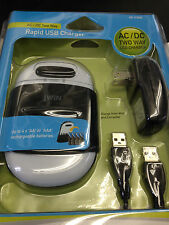 jWin Jbc350 Ac/Dc Two Way Rapid Usb Charger, New, Free Shipping
