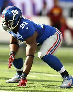 JUSTIN TUCK 8X10 PHOTO NEW YORK GIANTS NY PICTURE NFL FOOTBALL CLOSE UP