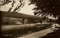 Reitlingstal im Elm bei Lucklum alte AK ~1920/30 gelaufen Straßenpartie Felder