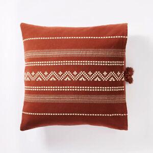 Square Woven Textured Throw Pillow Threshold™  Studio McGee 20 x 20 Rust