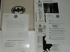 BATMAN - Shadow of the Bat - PRESS KIT - Posters STICKERS Pins BOX - Incomplete