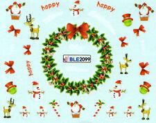 One Stroke Sticker X-Mas Weihnachten Nikolaus Winter Nailart UV-Gel / BLE2099