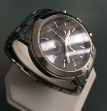 Mens Genuine Bulova Sports Chronograph Designer Watch Date Black Sunburst Steel