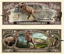 TYRANNOSAURE - BILLET 1 MILLION DOLLAR US ! T-REX Dinosaure Jurrassic Park World