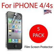 5 PACK - PET film screen protector for iPhone 4 and iPhone 4s