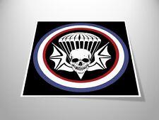 Skull Skydive Logo Stickers x2 Skydiving / Parachuting Airborne Decal Helmet