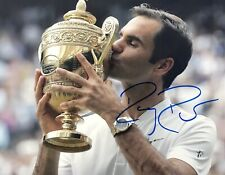 ROGER FEDERER HAND SIGNED 8X10 COLOR PHOTO COA