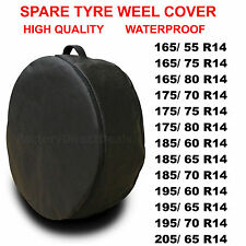 """Neumático de repuesto cubierta protectora de rueda R14"""" Bolsa De Neumáticos ahorro de espacio para cualquier coche RS53"""