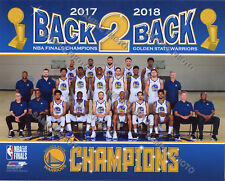 Golden State Warriors 2018 NBA Finals Champions Team Sit Down 8x10 Photo