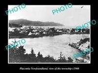 OLD LARGE HISTORIC PHOTO OF PLACENTIA NOVA SCOTIA, VIEW OF THE TOWN c1900 2