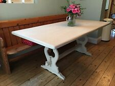 Solid Wood Country Less than 30 cm Width Tables