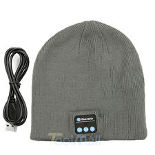 Warm Beanie Hat Wireless Bluetooth V3.0 Music Cap Headphone Headset Speaker Mic