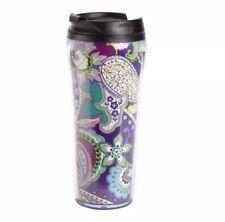Vera Bradley Travel Mug Tumbler HEATHER Purple Insulated Drink Holder NWT NIB