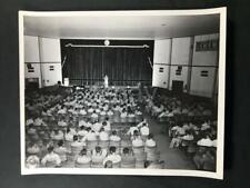 1944 WW2 USO Base Theater Interior US Army Camp Polk LA Old Photo A32