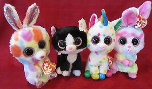 YOU CHOOSE TY Beanie Boo TySilk VelveTy Unicorn Bunny Rainbow Speckled Choice