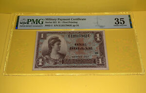 PMG Military Payment Certificate Series $ - First Printing Grade