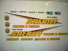 Park County Wyoming Sheriff Search and Rescue Vehicle Decals 1:24