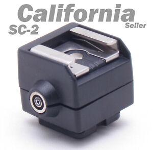 New SC-2 Flash Hot Shoe PC Sync Socket Adapter for Camera Canon Nikon