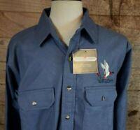 VTG Men's 'Black Duck' Blue Flannel Hunting Shirt Mallard Embroidered Sz XXL NWT