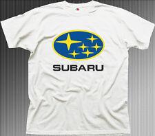 subaru impreza wrx sti badge car white cotton t-shirt tee 01080